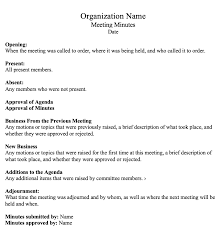 Meeting Minutes Template Microsoft Word How To Write Effective Meeting Minutes With Templates And