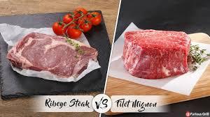 filet mignon vs ribeye differences in