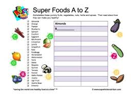 super foods a z