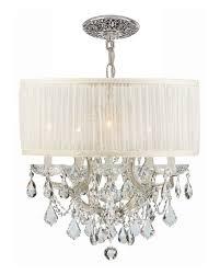 swarovski crystorama bwood 6 light elements crystal chrome drum shade chandelier