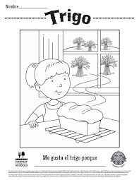 Wheat Food Hero Free Childrens Coloring Sheet In Spanish