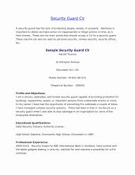 Resumes Security Officer Resume Sample Objective Guard Curriculum