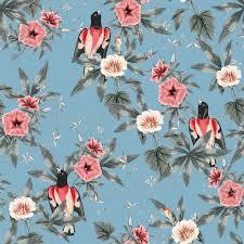 Floral Pattern Wallpaper Custom Decorating