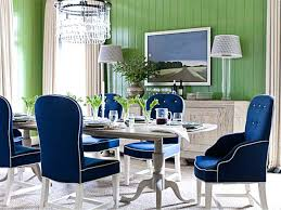 green upholstered chairs. Green Dining Room Table Amazing With Blue Upholstered Chairs Long White Chandelier Cabinet Standing Lamp In S