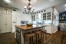White Country Kitchen With Butcher Block allfindus