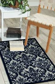 damask ivory navy area rug living colors crown gray