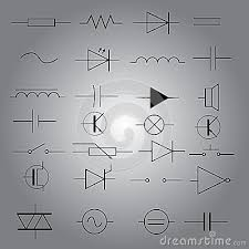 schematic symbols in electrical engineering pattern eps10 stock schematic symbols in electrical engineering pattern eps10 stock image image 36093001