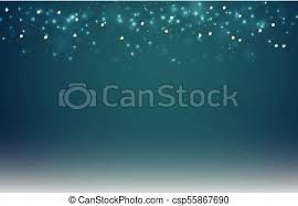 Abstract Dark Blue Blurred Background With Bokeh And Gold Glitter Header