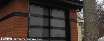 full view garage doorFull View Glass  Residential  GEIS Garage Doors  Milwaukee