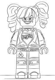 lego harley quinn coloring page