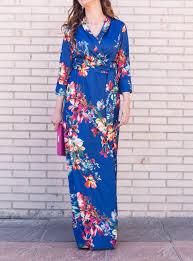 vestidos largos de flores, vestidos azules, vestido kleyn - Studio ...