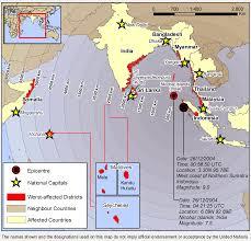 Asian tsunami 2005 diagram