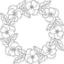 Bloemenkrans Tekenen Borduren Kleurplaten En Borduren Bloemen