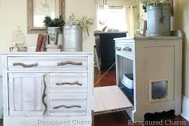 cat litter box furniture diy. Diy Cat Litter Box Furniture Turn A Cabinet Into Hideaway Pet Home
