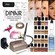 dinair studio pro set airbrush makeup kit 16pc make up set new digital pro