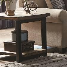 scott living rustic brown wood rustic end table