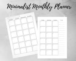 Monthly Planner Free Download Monday Start Undated Monthly Planner Filofax Inserts Planner Inserts Planner Refill A5 Printable Planner Digital Download