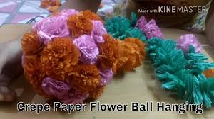 Crepe Paper Flower Balls How To Make Crepe Paper Ball Wall Hanging For Decoration Diy Sara