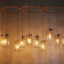 mason jar chandelier mason jar light canopy style large swag