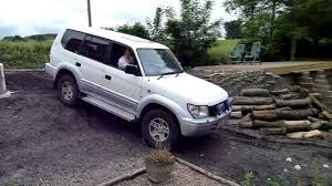 Playing In My 1998 Toyota Land Cruiser Off Road In The Garden ...