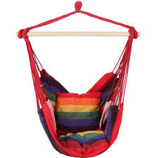 Amazon.com: Swing Hanging Hammock Chair With Two Cushions (Blue ...