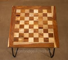 stunning chess coffee table with solid wood chess board coffee table with hair pin legs