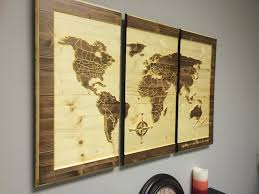 World Map Home Decor Wood Wall Art Carved World Map Home Decor Customize Wooden 3