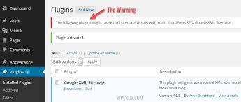 xml sitemap warning in yoast s seo plugin