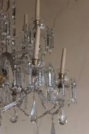 spectacular 1930s large 12 light glass chandelier