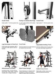 Md 9010g Exercise Chart Marcy Smith Machine Cage System Md 9010g