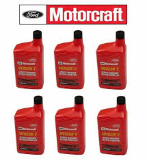 Motorcraft Mercon V Atf Transmission Fluid Xt5qmc Case 6 Quarts Ford Vehicles