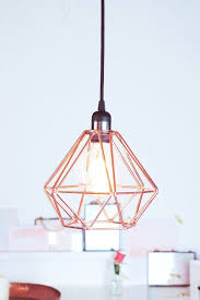 lighting sophisticated copper pendant light with diamond design copper pendant light nz