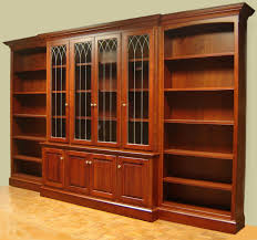 large bookcases with doors