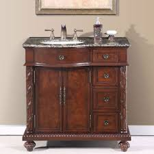 bathroom single vanity cabinets. Image Is Loading 36-inch-Granite-Stone-Top-Off-Center-Sink- Bathroom Single Vanity Cabinets