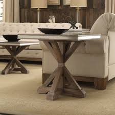 Abbott Rustic Steel Strap Oak Trestle End Table by iNSPIRE Q Artisan - Free  Shipping Today - Overstock.com - 22829263