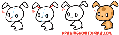 Small Picture How to Draw Cute Chibi Kawaii Characters with Number 3 Shapes