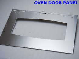 silver champagne polishing oven door replacement with tempered decorative glass