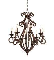 kalco 3161fc 8030 santa barbara 8 light 31 inch french cream chandelier ceiling light