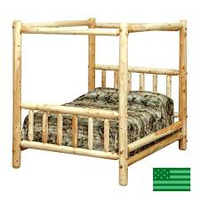 Rustic Canopy Bed Canopy Bed Mirror 3 Drawer Rustic Modern Canopy ...