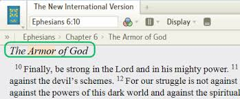 Finding A Heading In Your Bible Using Search