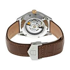 tag heuer carrera calibre 5 silver dial brown leather men s watch war215dfc6181