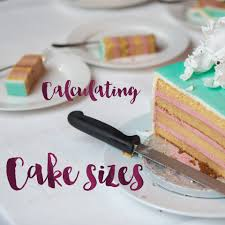 How To Calculate Cake Sizes Minh Cakes Zürich