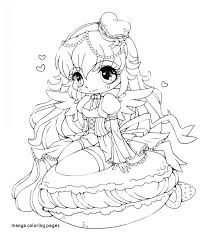 Manga Coloring Pages Chibi Food Girls Crafts For Page Kids Online
