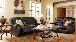 Baycliffe Brown 40 Pc Living Room With Reclining Sofa Living Room Awesome Living Room Pc