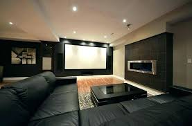 basement movie room. Wonderful Room Basement Movie Room Ideas Theater Modern Big Screen  Projector Wooden Beam Ceiling With Basement Movie Room