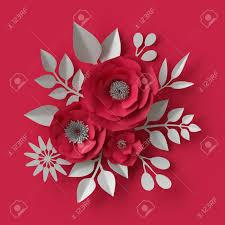 Red Paper Flower Stock Illustration
