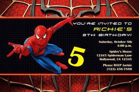 Spiderman Birthday Invitation Templates Free Spiderman Invitation Templates