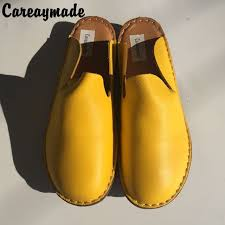 basic outside summer careaymade new genuine leather shoes pure handmade flat shoes women