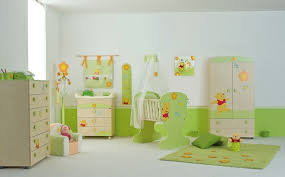 Image Cribs Colorful White Green Wooden Style Winnie The Pooh Baby Furniture Equipped With White Flooring And Green Ideas Homes Cute Winnie The Pooh Baby Furniture Collection Ideas Homes