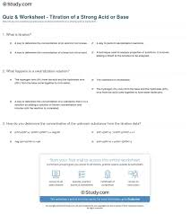 marvellous quiz worksheet titration of a strong acid or base stud chemistry a study of matter
